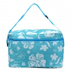 Outdoor-Picknick verdicken Maschenwaren + Cotton Insulated Nahrung / Genussmittel Tasche - Blau