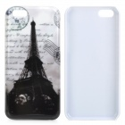 Eiffel Tower Protective Plastic Back Case for Iphone 5C - White + Black
