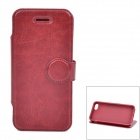 Protective PU Leather + TPU Flip Stand Case for Iphone 5C - Brown