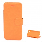 Protective PU Leather + TPU Flip Stand Case for Iphone 5C - Orange
