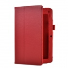 Lichee Pattern 2-Folding Protective PU Leather Case Cover Stand for ACER b1-a710 - Red
