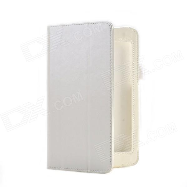 Crazy Horse Pattern 2-Folding Protective PU Leather Case Cover Stand for Asus HD7 ME173X - White