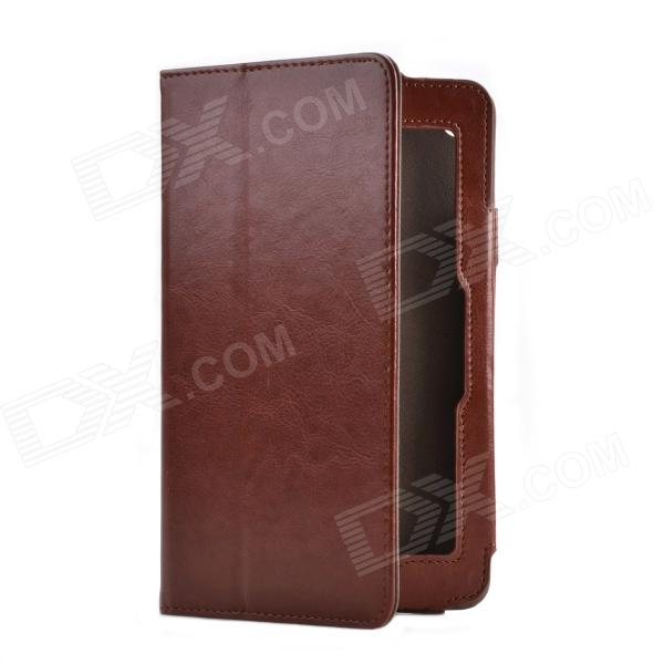 Crazy Horse Pattern 2-Folding Protective PU Leather Case Cover Stand for HP SLATE 7 - Vermilion