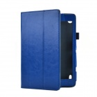 Crazy Horse Pattern 3-Folding PU Leather Case Cover Stand for ACER AICONIA AI - Deep Blue