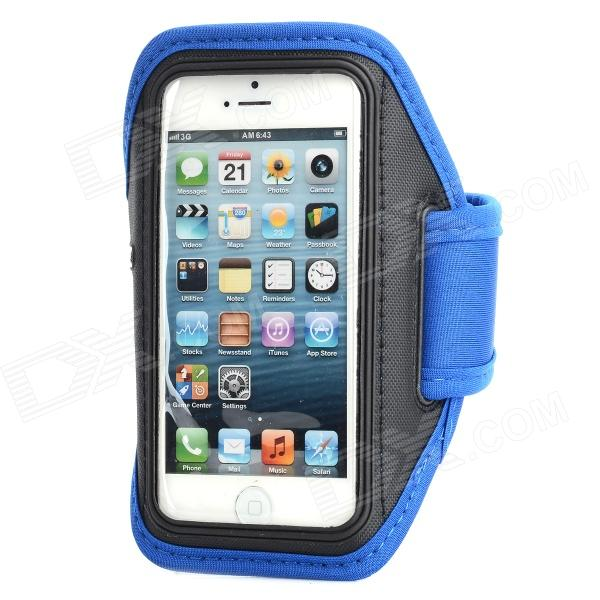 Sports Gym Neoprene + PVC Armband Case for Iphone 5S - Blue + Black