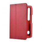 Two Section Folding Protective PU Leather Case w/ Stand for MOTO XOOM - Red