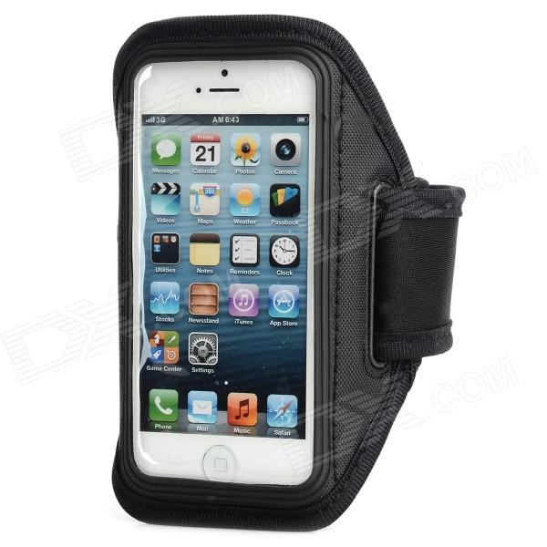 Sports Gym Neoprene + PVC Armband Case for Iphone 5S - Black