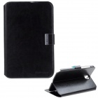 Crazy Horse Pattern Protective PU Leather Case Cover Stand for Samsung Galaxy Tab P5100 - Black