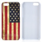 Retro US National Flag Pattern Plastic Back Case for Iphone 5C - Multicolored
