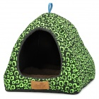 CPTCAM Mongolian Yurt Pet Dog House - Black + Green + Grey