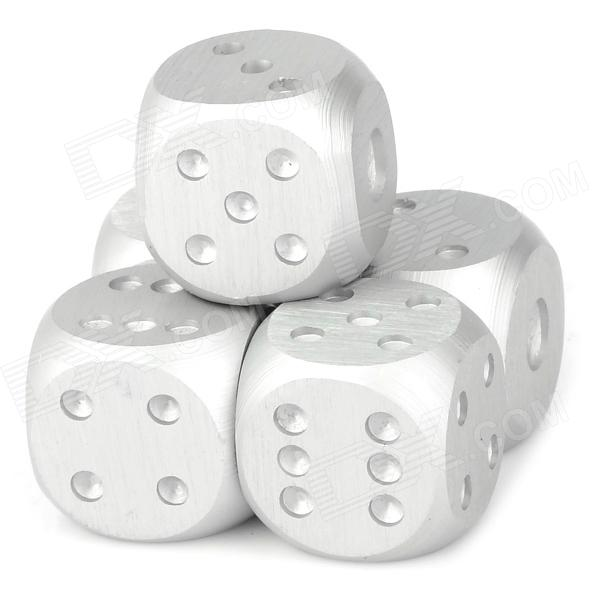 1105 Portable Aluminum Alloy Dice for Bar - Silver (5 PCS) hiinst black portable and durable waterproof portable carrying storage aluminum alloy case box for spark drop aug15