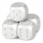 1105 Portable Aluminum Alloy Dice for Bar - Silver (5 PCS)