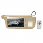 "Multifunction Sun Visor 7"" TFT LCD Car Monitor w/ 2-CH Video Input"