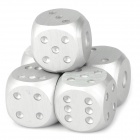 Portable Aluminum Alloy Dice for Bar - Silver (5 PCS)
