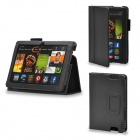 Protective PU Leather Case Cover Stand for Kindle Fire HDX 7 Inch - Black