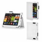 Protective PU Leather Case Cover Stand for Kindle Fire HDX 7 Inch - White