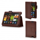 Protective PU Leather Case Cover Stand for Kindle Fire HDX 7 inch - Brown