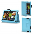 Protective PU Leather Case Cover Stand for Kindle Fire HDX 7 Inch - Blue
