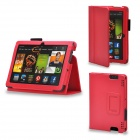 Protective PU Leather Case Cover Stand for Kindle Fire HDX 7 Inch - Red