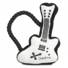 JT-01 Guitar Shaped Cotton Toy w/ Bite Rope for Pet - Black + White
