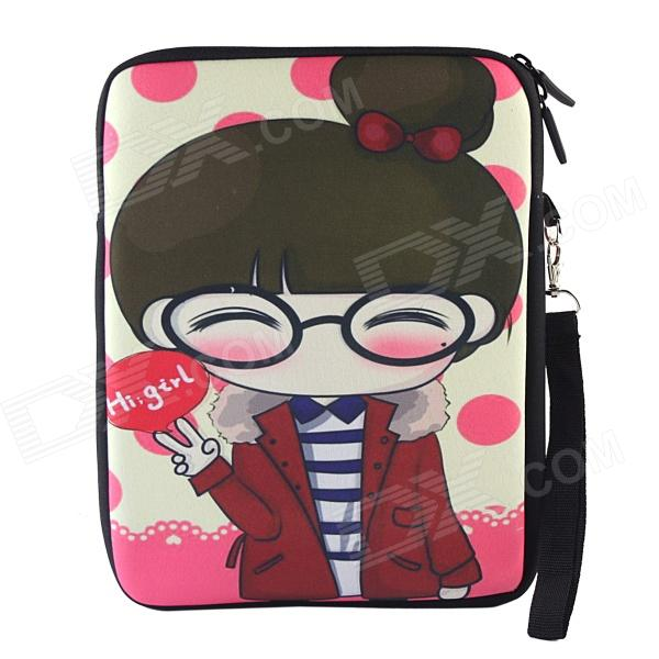 Cartoon Girl Pattern Universal Protective Sleeve Bag for 10.1 Tablet PC - Multicolored go girl only go girl only 698231
