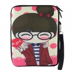 "Cartoon Girl Pattern Universal Protective Sleeve Bag for 10.1"" Tablet PC - Multicolored"