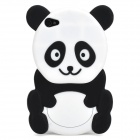 Cute 3D Panda Pattern Silicone Back Case for Iphone 4 / 4S - Black + White
