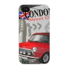 Retro Old Vintage Car Pattern Protective Plastic Back Case for Iphone 4 / 4S - Multicolored