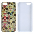 Stylish Cartoon Skull Pattern Plastic Back Case for Iphone 5C - Multicolored