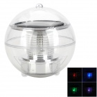 Solar Powered 1-LED Colorful Light Water Drifting Lamp - Black + Transparent
