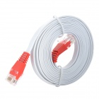 Unitek Y-C801 RJ45 Male to Male UTP Cat.5e Flat Network Cable - White (1.8M)