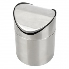Stainless Steel Desktop Trash Can for Office / Home - Silver
