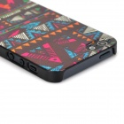 Retro Tribal Pattern Relievo Protective Plastic Back Case for Iphone 5 - Multicolored
