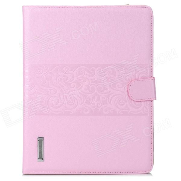 Stylish Flip-Open PU Leather Smart Case w/ Stand / Card Slots for Ipad 2 / 3 / 4 - Pink funny moustaches pattern pu leather flip open case w stand for ipad 2 the new ipad ipad 4