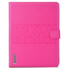 Stylish Flip-Open PU Leather Smart Case w/ Stand / Card Slots for Ipad 2 / 3 / 4 - Deep Pink