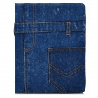 Stylish Denim Smart Case w/ Ajustable Stand for Ipad 2 / 3 / 4 - Blue