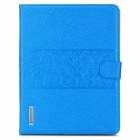 Stylish Flip-Open PU Leather Smart Case w/ Stand / Card Slots for Ipad 2 / 3 / 4 - Blue