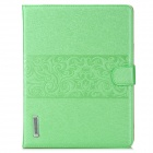 Stylish Flip-Open PU Leather Smart Case w/ Stand / Card Slots for Ipad 2 / 3 / 4 - Green