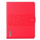 Stylish Flip-Open PU Leather Smart Case w/ Stand / Card Slots for Ipad 2 / 3 / 4 - Red