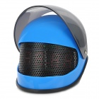 Helmet Style Creative Desktop Electronic Clock w/ Alarm - Blue + Black