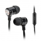 GULUN GL-888 Stylish Universal 3.5mm Jack Wired In-ear Headset w/ Microphone - Silver + Black