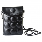 Stylish Universal PU Leather Vertical Punch Bag for Cellphone - Black
