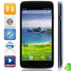 """A199 MTK6572 Dual-Core Android 4.2.2 WCDMA Bar Phone w/ 5.0"""", Wi-Fi, FM and GPS - Black + Blue"""