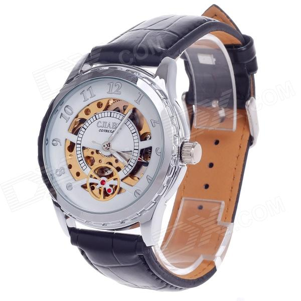 CJIABA GK8019 High-Grade Automatic Mechanical Men's Wrist Watch - Black + Golden + White