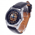 CJIABA GK8008 Double-Sided Hollow Automatic Mechanical Men's Wrist Watch - Black + Golden + Blue