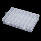 24-Lattice Plastic Nail Art Accessories Storage Box - Transparent
