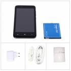 "TIMMY E128 MTK6572 Dual-Core Android 4.2 GSM / WCDMA Bar Puhelin w / 4,5"", 4GB ROM, 3G, GPS - musta"