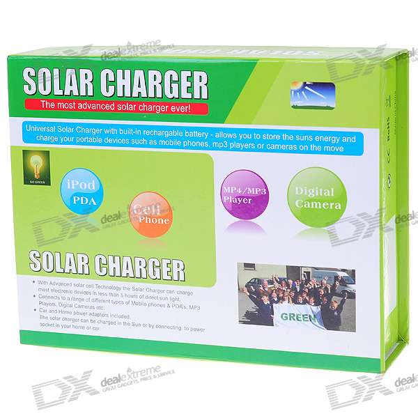 2000mAh Solar / AC / Car Recharged 4.5V ~ 9V USB Battery Power Pack mit Handy-Adapter