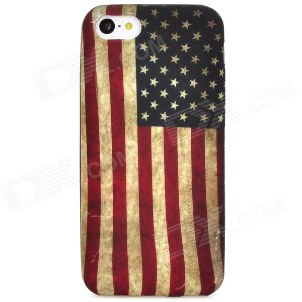 Retro US National Flag Pattern Silicone Back Case for Iphone 5C - Multicolored цена и фото