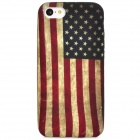 Retro US National Flag Pattern Silicone Back Case for Iphone 5C - Multicolored
